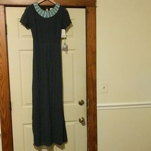 Anthropologie Dresses - Anthro Korovilas Dress Beaded and Chain Neckline